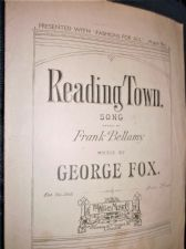 OLD SHEET MUSIC READING TOWN SONG FRANK BELLAMY GEORGE FOX WILLIS A.H.857